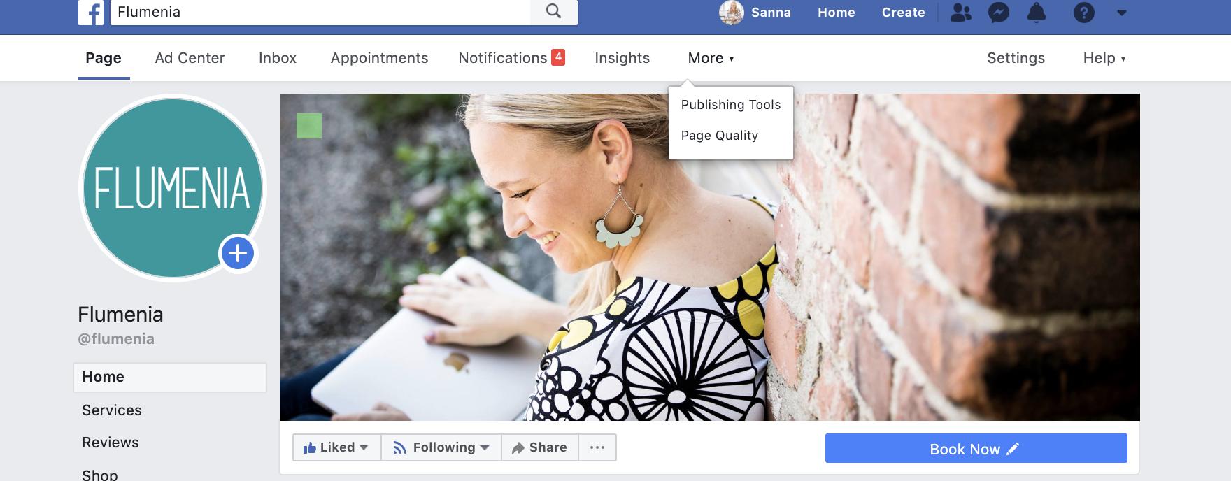 Facebook julkaisujen hallinta