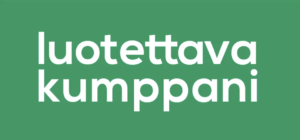 Luotettava kumppani -logo